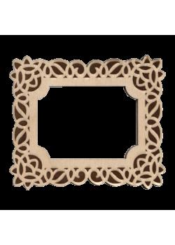 Деревянный магнит Ажурная рамка 73×84 мм