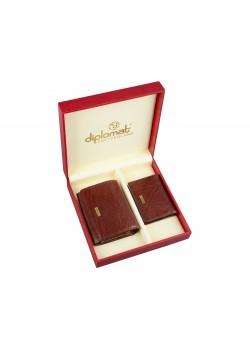 Набор Diplomat: дамское портмоне, визитница