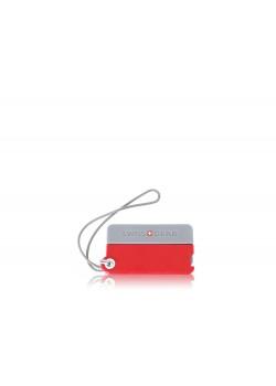 Бирка для багажа SWISSGEAR, 2 шт./упак., АБС-пластик, 7,5 x 0,7 x 4,2 см, красный/серый