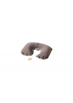 Подушка для путешествий WENGER надувная и беруши, серая, полиэстер, 45x11x28 см