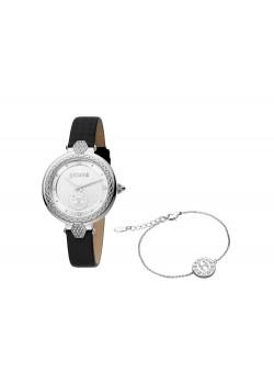 Подарочный комплект, состоящий из женских наручных часов и браслета. Just Cavalli