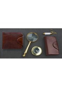 Набор: портмоне, визитница, лупа, компас, брелок-термометр Галеон Laurens de Graff