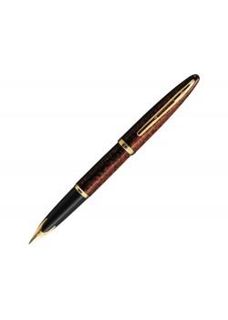 Ручка перьевая Waterman Carene Amber GT F, коричневый/золотистый
