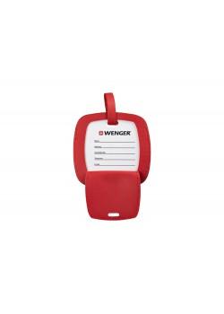 Бирка для багажа WENGER, красная, полиуретан, 4,1 x 4,1 x 0,4 см