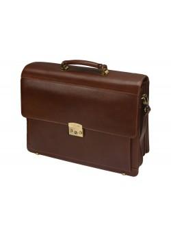 Портфель Кредо из натуральной кожи с отделением для ноутбука S.Babila